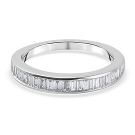 ILIANA 18K White Gold IGI Certified Diamond (SI/G-H) Half Eternity Ring 0.50 Ct.