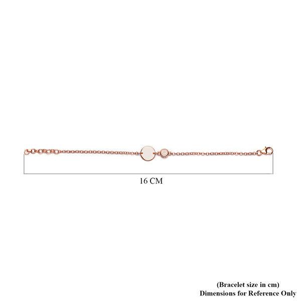 Sri Lankan White Moonstone Bracelet (Size 6) in Rose Gold Overlay Sterling Silver