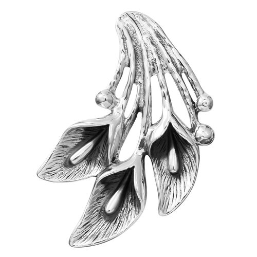 Limited Available Designer Inspired- Sterling Silver Lily Pendant, Silver wt 13.01 Gms