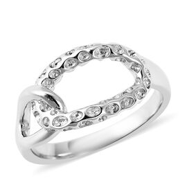 RACHEL GALLEY Rhodium Overlay Sterling Silver Allegro Link Ring