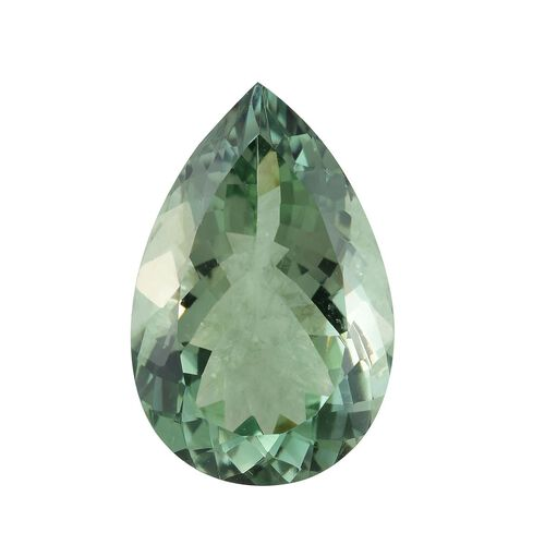 AAA Prasiolite Pear 25x17 Faceted 25.23 Cts