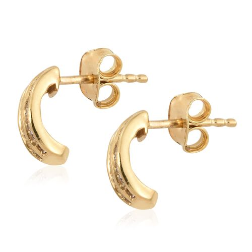 Diamond (Bgt) Stud Earrings (with Push Back) in 14K Gold Overlay Sterling Silver 0.500 Ct. Number of Diamonds 102