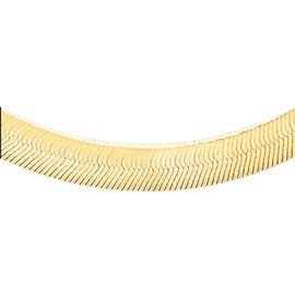 Limited Available Close Out Deal- 9K Yellow Gold Herringbone Chain (Size 20), Gold wt 9.00 Gms