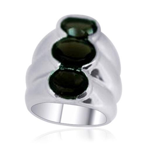 Brazilian Smoky Quartz (Ovl 1.61 Ct) 3 Stone Ring in Sterling Silver 3.910 Ct.