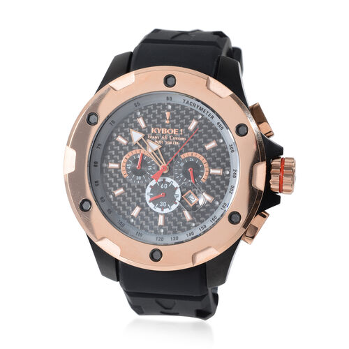 KYBOE Alpha Collection - Steel Rose Noir 48MM LED Watch- 100M Water Resistance