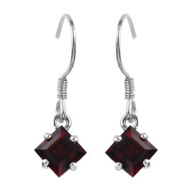 Mozambique Garnet Hook Earrings in 14K Gold Overlay Sterling Silver 3.00 Ct.