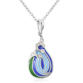 Isabella Liu Embrace Scar Collection - Natural Cambodian Zircon Enamelled Pendant with Chain (Size 3