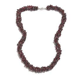 Rhodolite Garnet Necklace (Size 20) in Platinum Overlay Sterling Silver 398.40 Ct.