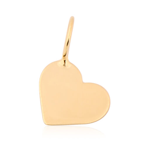 Italian Made - 9K Yellow Gold Heart Pendant