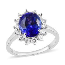 RHAPSODY 950 Platinum AAAA Tanzanite (Ovl 11x9 mm), Diamond (VS/E-F)  Ring 5.585 Ct.