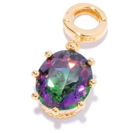2.55 Ct Twilight Coated Topaz Pendant in Gold Plated Sterling Silver