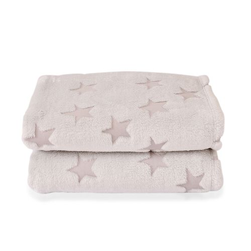 Glowing Stars Blanket with City Life Print (Size 200X150 Cm)
