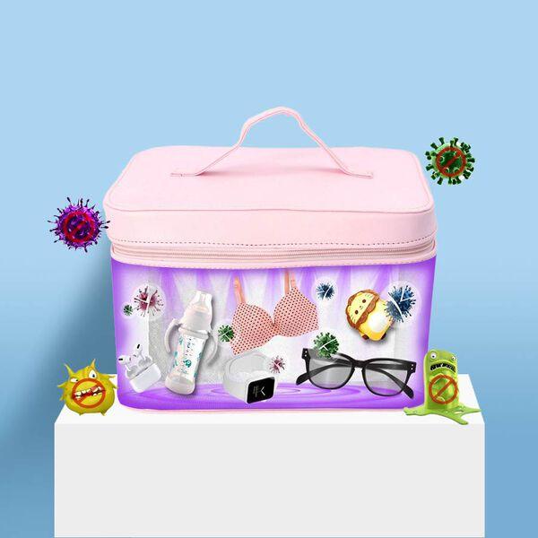 13 LED Portable UV Sterilisation Bag - Pink
