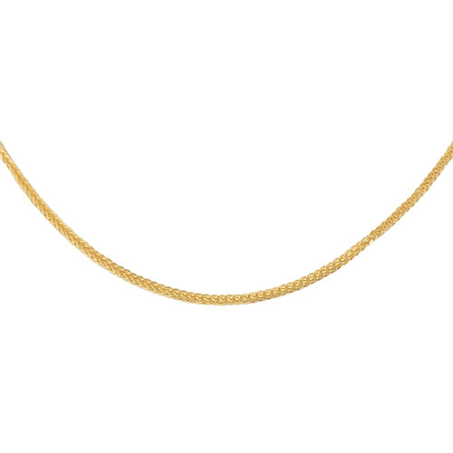 Italian Made - 9K Y Gold Spiga Necklace (Size 24), Gold 2.35 Gms.