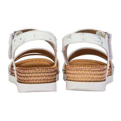 Lotus Prato Velcro Sandals (Size 4) - White