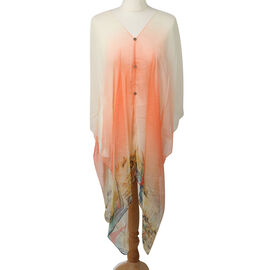 Wrap Style Summer Beach Covering in Peach (One Size; Length 76 cm)