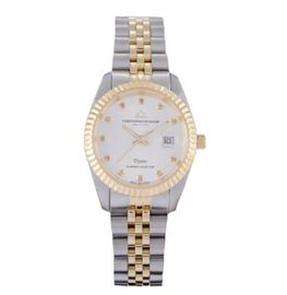 CHRISTOPHE DUCHAMP Elysees Swiss Movement Genuine Diamond Studded Silver Dial 5 ATM Water Resistant