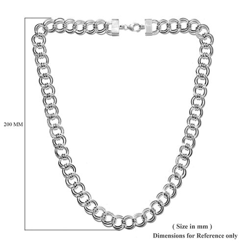 Sterling Silver Curb Necklace (Size 20), Silver wt. 47.00 Gms