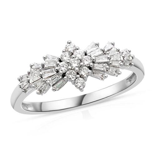 ILIANA 0.50 Carat Diamond Ballerina Ring in 18K White Gold 2.97 grams IGI Certified SI GH
