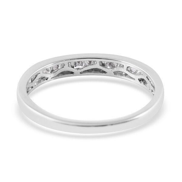 RHAPSODY 950 Platinum IGI Certified Diamond (Princess) (VS/E-F) Band Ring 0.50 Ct.