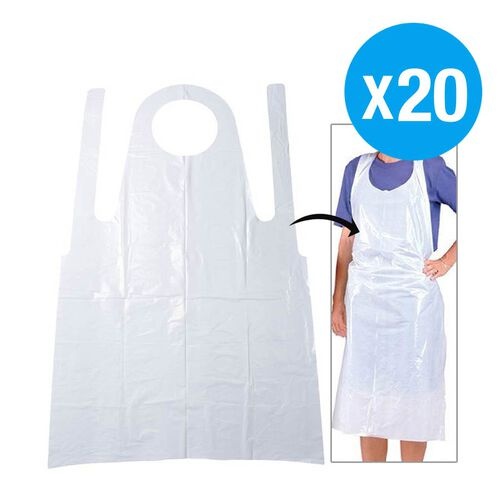 Pack of 20 Disposable Apron (Size 85 x 132 cm)