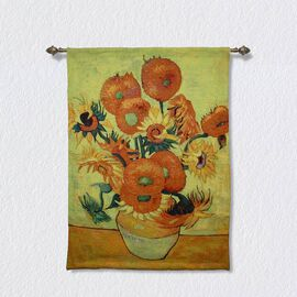Signare Tapestry - 100% Cotton Wall Hanging - Van Gogh Sun Flower
