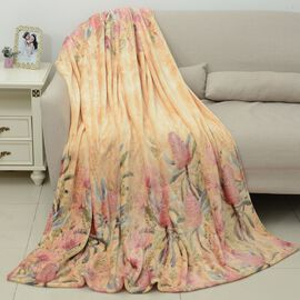 Extremely Soft Microplush Printed Blanket 150x200 cm - Yellow