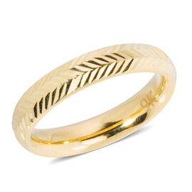 9K Yellow Gold Diamond Cut  Band Ring , Gold wt 1.33 Gms.