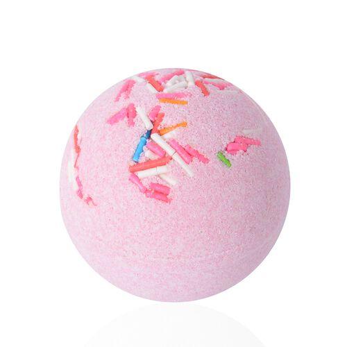 3 Piece Set - Jasmin Scent Bath Bomb with Pink and White Colour Soap Flower (Size 18.6x7.3x7.2 Cm)