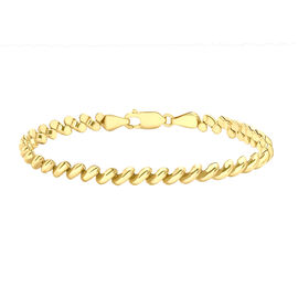 Pebble Bracelet in 9K Yellow Gold 7.80 Grams 7.5 Inch