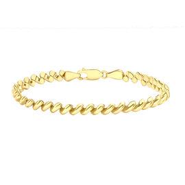 Pebble Bracelet in 9K Yellow Gold 7.80 Grams 7.5 Inch
