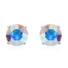 J Francis AB Crystal from Swarovski Stud Solitaire Earrings in Sterling Silver