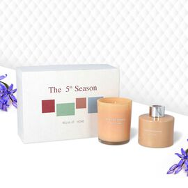 The 5th Season - Gift Box Set of Scented Candle and Diffuser - Champagne (Fragrance - Diffuser:Frenc