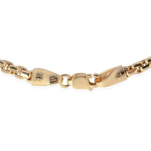 9K Yellow Gold Diamond Cut Box Belcher Chain Bracelet (Size 7.5), Gold wt 4.45 Gms