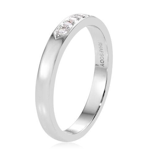 RHAPSODY 950 Platinum IGI Certified Diamond (Rnd) (VS / E-F) Ring 0.010 Ct.