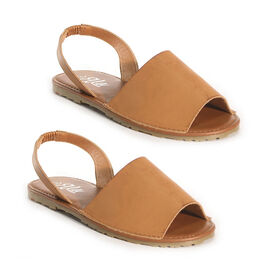 OLLY Palma Mule Sandal in Tan Colour