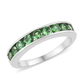 RHAPSODY 950 Platinum Tsavorite Garnet (Rnd) Half Eternity Band Ring 1.000 Ct, Platinum wt 5.56 Gms.