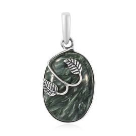 Artisan Crafted Siberian Seraphinite (Ovl) Pendant in Sterling Silver 18.00 Ct.