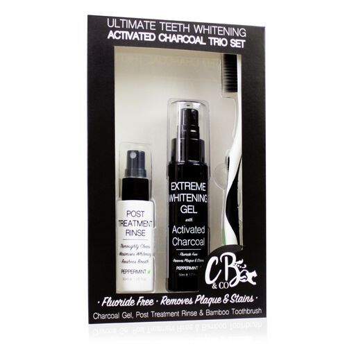 COUGAR- CB and CO Ultimate Teeth Whitening Activated Charcoal Trio Set