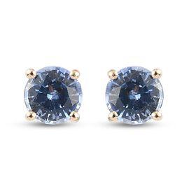 RACHEL GALLEY 9K Yellow Gold  Blue Ceylon Sapphire Earrings (with Push Back)