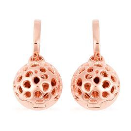 RACHEL GALLEY 0.66 Ct Rhodolite Garnet Lattice Drop Earrings in Rose Gold Plated Silver 12.50 Grams