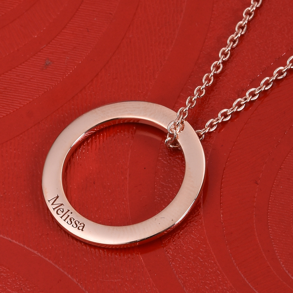 """Personalised Engraved Circle Necklace, Size 20"""""""