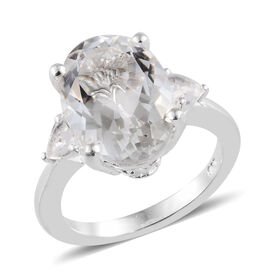 Petalite (Ovl 14x10 mm) Ring in Sterling Silver 5.250 Ct.