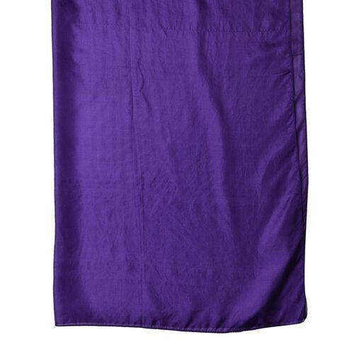 100% Mulberry Silk Purple Colour Scarf (Size 175X90 Cm)