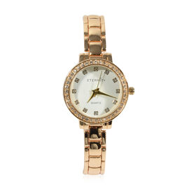 ETERNITY - Ladies Swarovski Studded Watch in Gold Tone