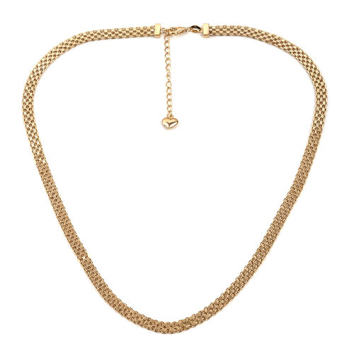 Royal Bali Collection Chain Necklace in 9K Gold 6.74 Grams 18 Inch
