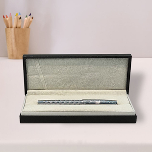 Azarine Steel Fountain Pen with Snap Closure - Grey