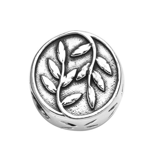 Charmes De Memoire Leaf Charm in Platinum Plated Sterling Silver 3.20 Grams