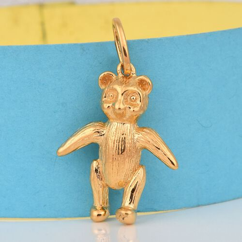Teddy Bear Silver Charm Pendant in Gold Overlay, Silver wt 4.80 Gms.