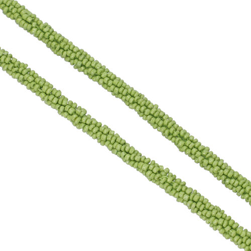 New Arrival- Endless Bead Necklace (Size 58) - Peridot Colour